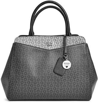 Factory GUESS Women's Birch Logo Charm Carryall