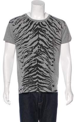 Saint Laurent Tiger Striped T-Shirt w/ Tags