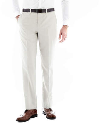 Jf J.Ferrar J.F. Regular Fit Bone Flat-Front Suit Pants