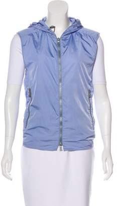 Prada Sport Hooded Zip-Up Vest