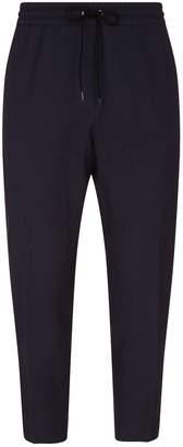 Kenzo Leopard Print Trim Cargo Trousers