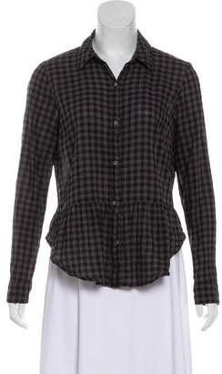 Elizabeth and James Gingham Button-Up Top