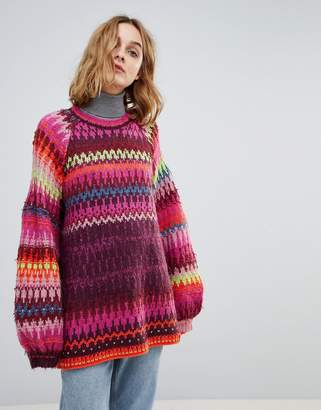 Free People Castles In The Sky Alpaca Mohair Blend Sweater