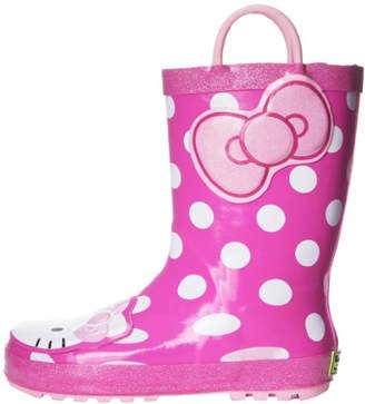 Western Chief Girls' Hello Kitty Waterproof Character Rain Boots with Easy on Handles