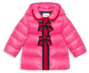 Gucci Baby Girl's Quilted Hooded Coat