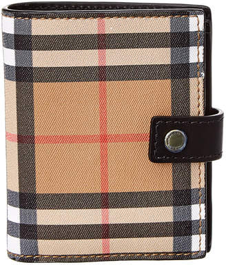 Burberry Small Vintage Check Leather Folding Wallet