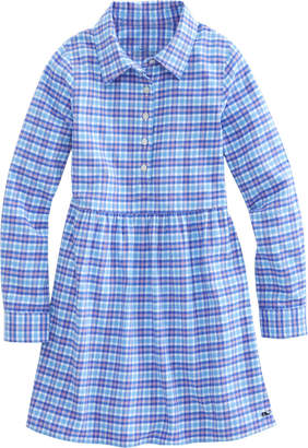 Vineyard Vines Girls Morgan Way Plaid Flannel Shirt Dress