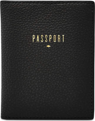 Fossil Travel Rfid Leather Passport Holder