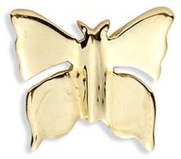 Loquet London 18k yellow gold butterfly charm - Metamorphosis