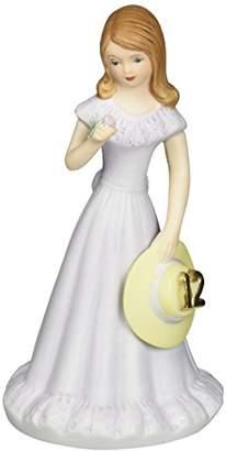 "575 Denim Enesco Growing Up Girls ""Brunette Age 12"" Porcelain Figurine"
