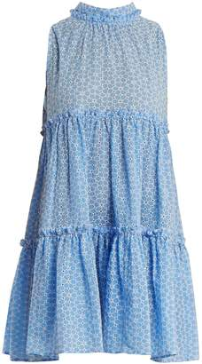 Lisa Marie Fernandez Erica floral-embroidered tiered cotton dress