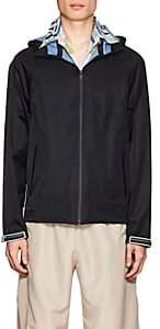 Prada Men's Polished Twill Hooded Jacket-Black