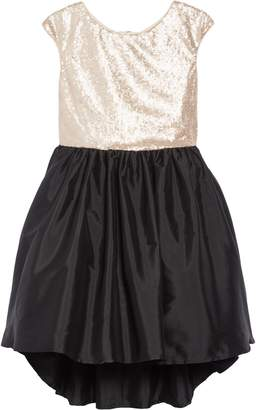 Pippa Pastourelle by & Julie Sequin Taffeta High/Low Dress