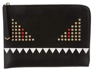 Fendi Studded Monster Clutch