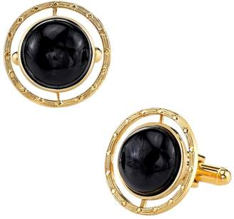 1928 Cabochon Circle Cuff Links