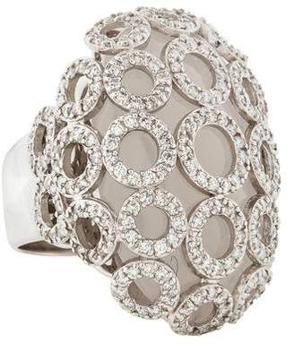Carla Amorim 18K Diamond & Milky Quartz Flor de Sal Ring