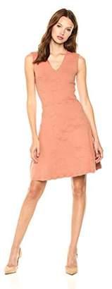 Cable Stitch Women's Floral Jacquard Dress
