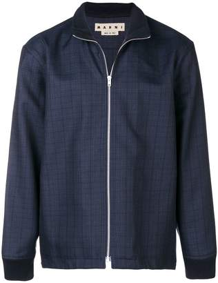 Marni zip-front check jacket