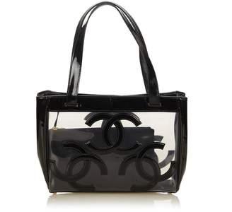 Chanel Vintage Clear Vinyl Tote Bag