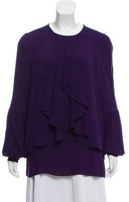 Proenza Schouler Silk Ruffled Top