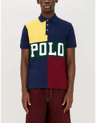 18eb35f3 Polo Ralph Lauren Colour block cotton-piqué polo shirt