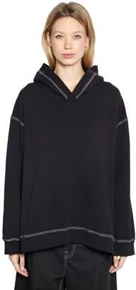MM6 MAISON MARGIELA Contrasting Stitching Jersey Sweatshirt