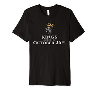 Kings Are Born On Oct 26th Birthday In October T-shirt