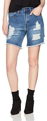 Parker Lily Women's Distressed Ripped Denim Shorts Jeans