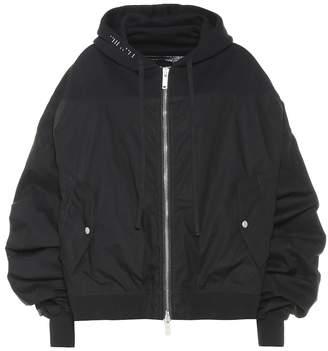 Unravel Hooded bomber jacket
