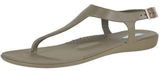 OKA b. Oka-B Carson Dirty Martini W/Gold Buckle Womens Ankle Strap Size 7M
