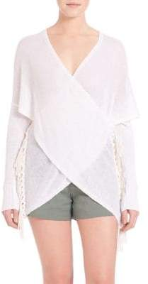 Derek Lam 10 Crosby Front Wrap Top