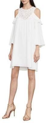 BCBGMAXAZRIA Cole Cold-Shoulder Shift Dress
