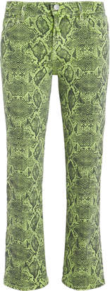 J Brand Selena Snakeskin Jeans