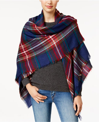 Steve Madden Classic Plaid Square Blanket Scarf $44 thestylecure.com