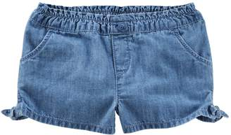 Osh Kosh Oshkosh Bgosh Toddler Girl Knot-Hem Denim Shorts