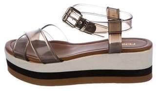Fendi PVC Flatform Sandals