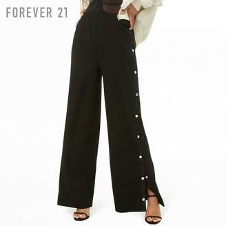 Forever 21 (フォーエバー 21) - Forever 21 サイドボタンワイドパンツ