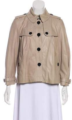 Burberry Leather Trench Jacket
