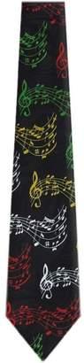 Sale Shower Curtain Mens Novelty Musical Notes Necktie