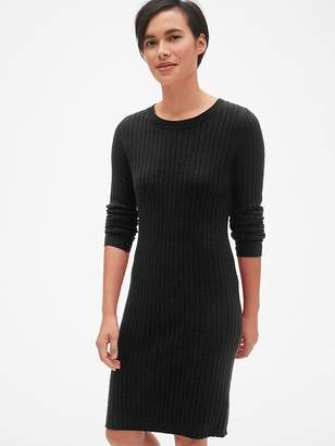 Gap Cozy Ribbed Crewneck Sweater Dress