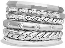 David Yurman Stax Wide Ring with Diamonds