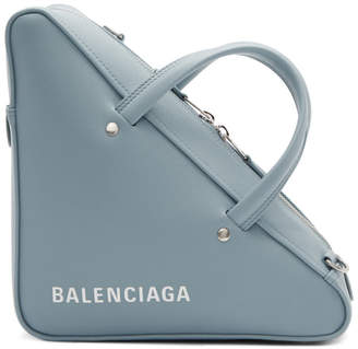 Balenciaga Blue Small Triangle Bag