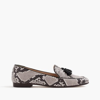 Charlie tassel loafers in snakeskin-printed leather $198 thestylecure.com