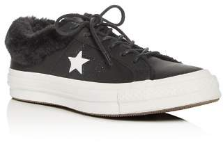 Converse One Star Faux-Fur Low-Top Sneakers