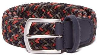 Andersons Anderson's - Woven Elasticated Belt - Mens - Green Multi
