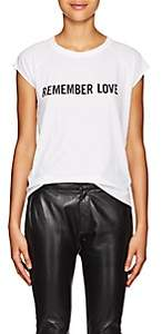 "Nili Lotan Women's ""Remember Love"" Cotton T-Shirt - White"