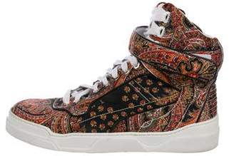Givenchy Satin High-Top Sneakers