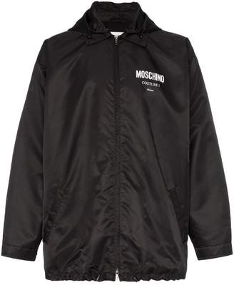 Moschino logo hooded jacket