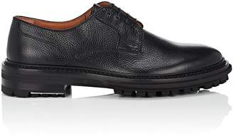 Lanvin Men's Lug-Sole Grained Leather Bluchers