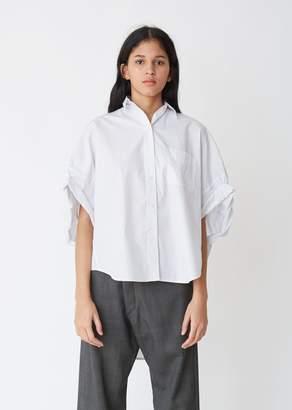 R 13 Oversized Rolled Sleeve Shirt